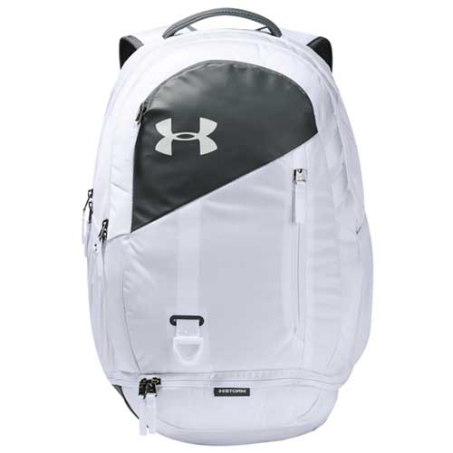 Under Armour Hustle 4.0 Backpack, White, swatch