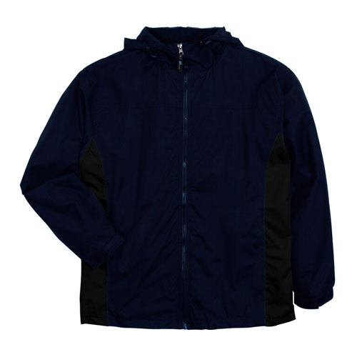 Men's Lightweight Rain Jacket, Black/Black, swatch