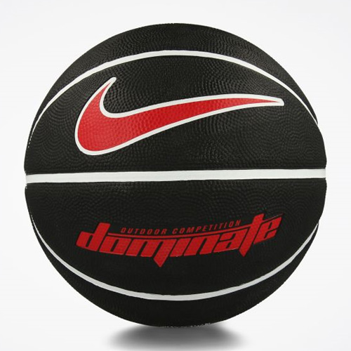 Dominate Official Basketball, Black/Red/White, swatch