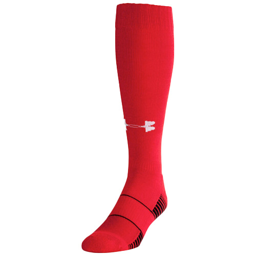 Youth Team Over the Calf Baseball Socks, Red, swatch