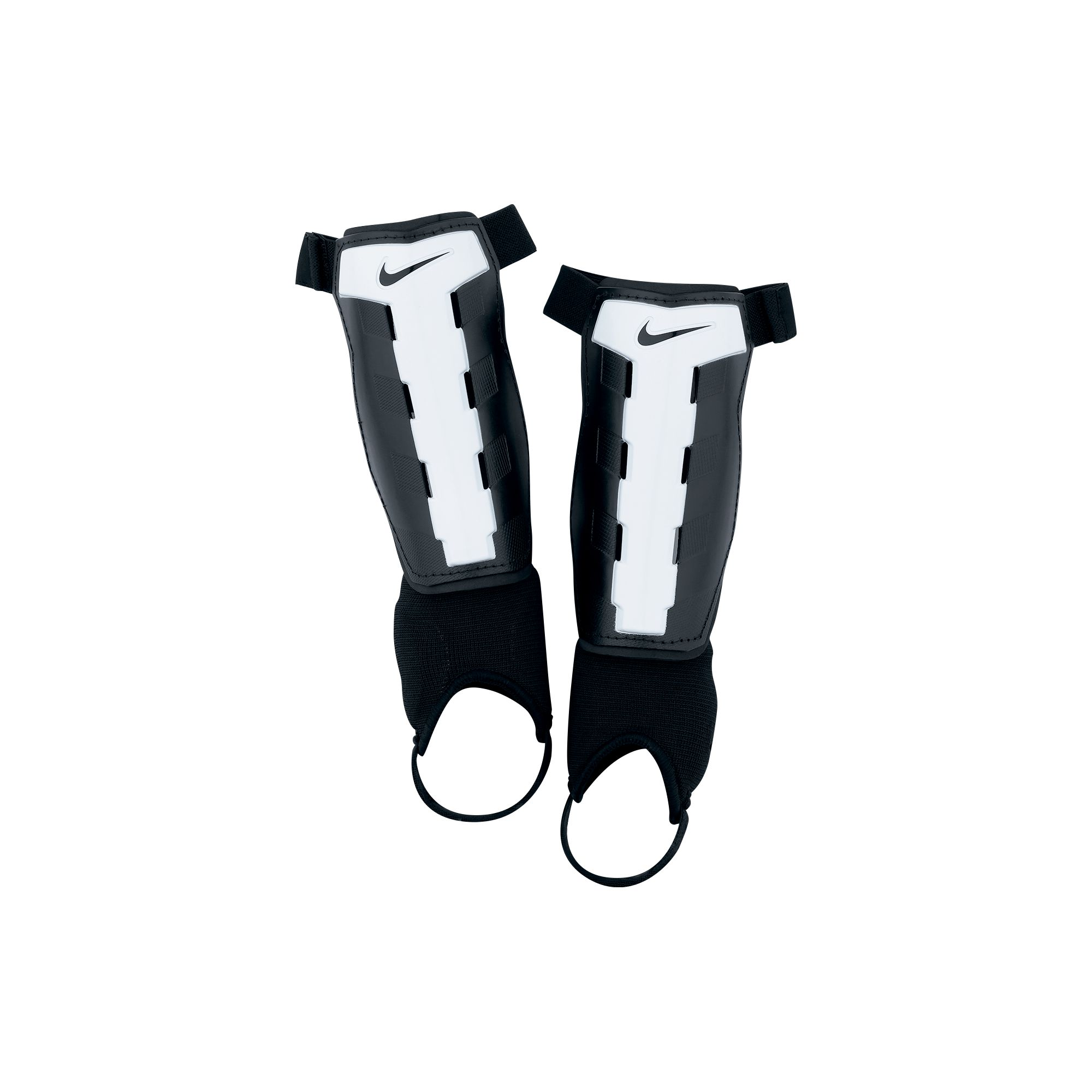 Youth Charge Shin Guards, Black/White, swatch