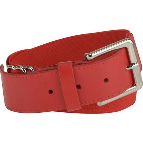 Adult Baseball Belt, Red, swatch
