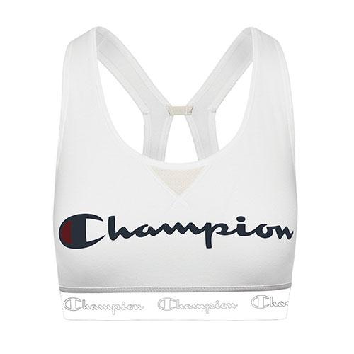 Women's Authentic Script Logo Sports Bra, White, swatch