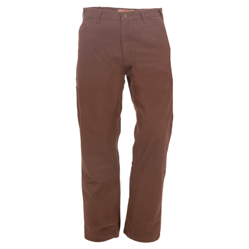 Men's Washed Duck Carpenter Jean, Brown, swatch