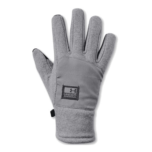 Men's ColdGear Infrared Fleece Gloves, Heather Gray, swatch