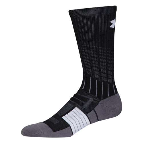 Men's Unrivaled Crew Socks, Black, swatch
