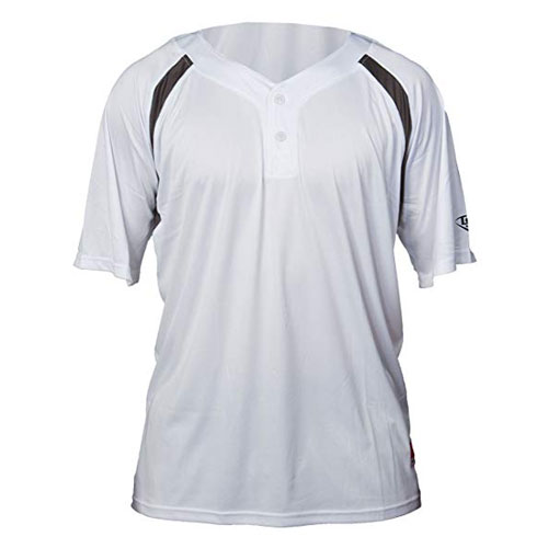 Youth Henley Game Jersey, White/Gray, swatch