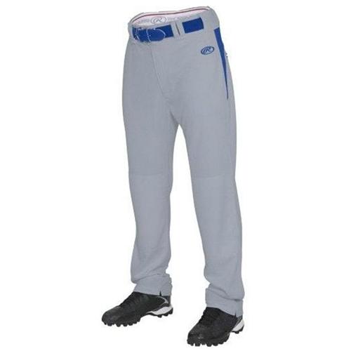 Youth Plated Baseball Pants, Gray/Royal, swatch