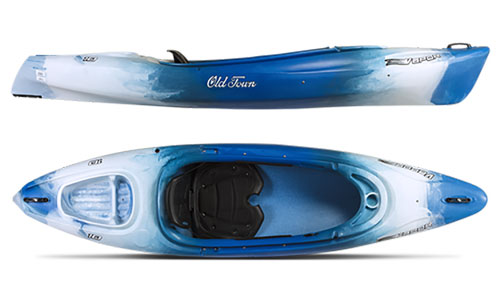 Vapor 10 Angler Kayak, Blue Patterned, swatch