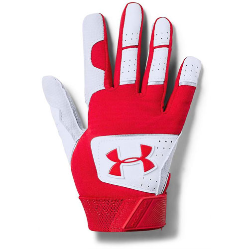 Tee-Ball Clean Up Batting Gloves, White/Red, swatch