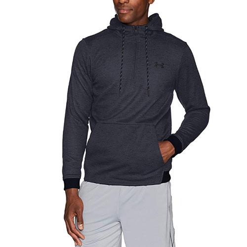 Men's Armour Fleece 1/2 Zip Hoodie, Navy, swatch