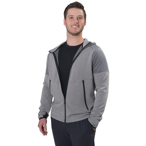 Men's Soft Scuba Full Zip Jacket, Heather Gray, swatch