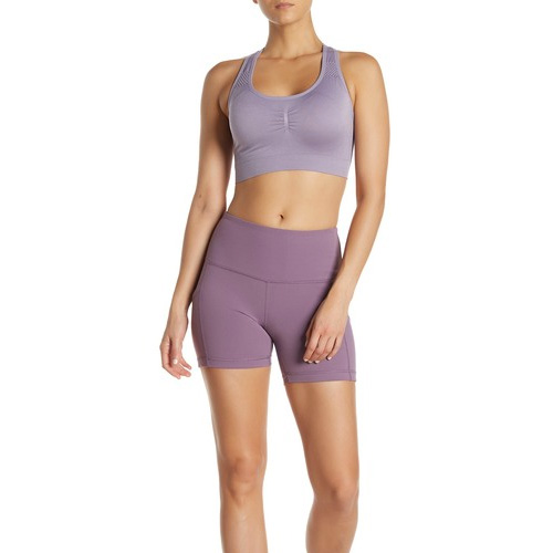 "Women's 5"" High Rise Shorts, Light Purple, swatch"