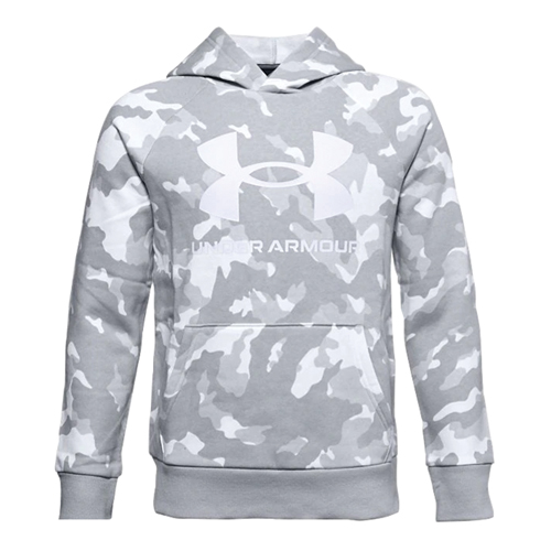 Boys' Rival Fleece Printed Hoodie, Lt Gray,Dove Gray, swatch