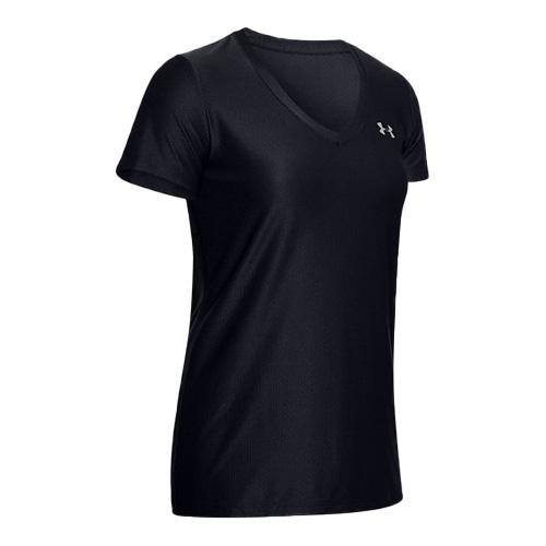 Women's Tech V-Neck T-Shirt, Black, swatch