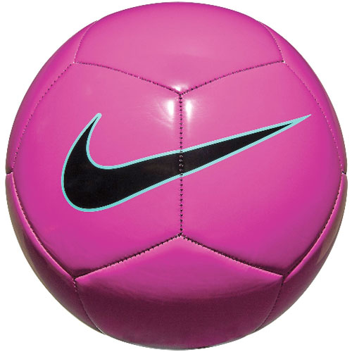 Pitch Training Soccer Ball, Pink/Yellow, swatch