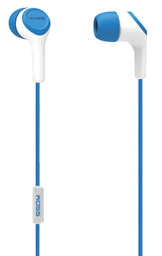 In-Ear Buds with Mic, Blue, swatch
