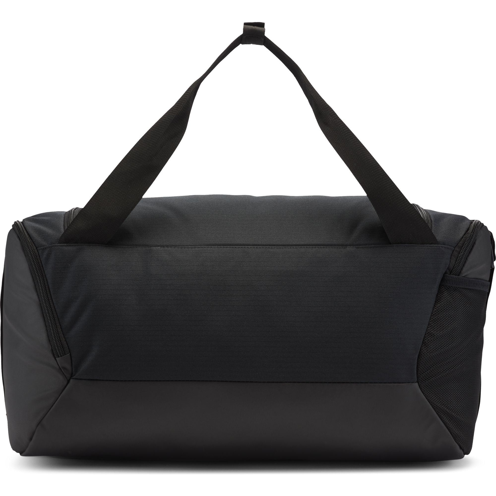 Brasilia Small Training Duffell Bag, Black/Red, swatch