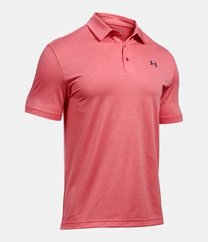 Men's Playoff Golf Polo, Red, swatch
