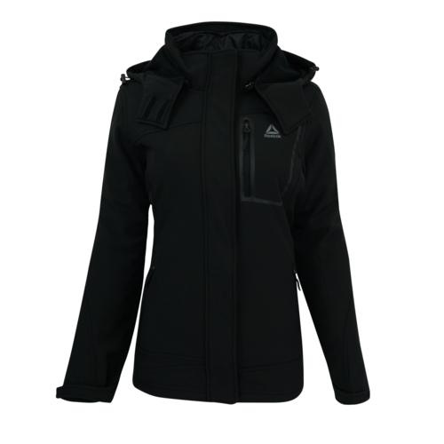 Women's Softshell System Jacket, Black, swatch