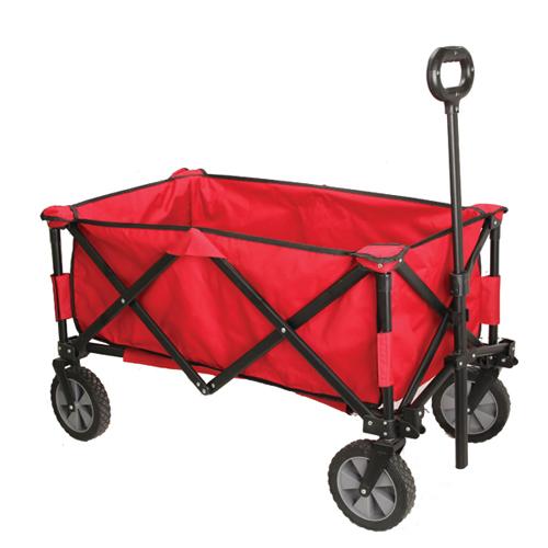 Quad Folding Wagon, Red/Black, swatch