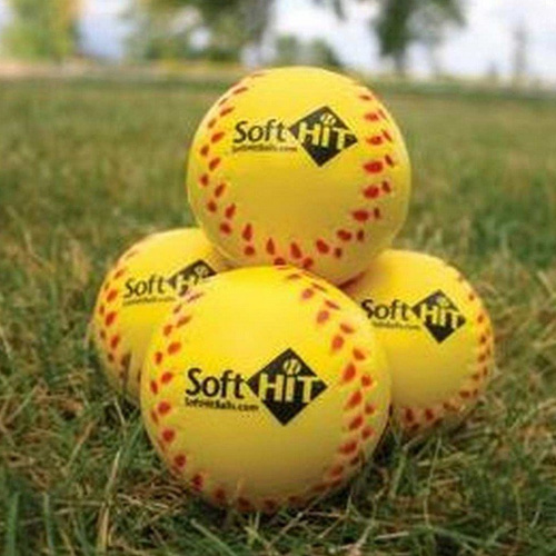 Seamed Foam Practice Baseballs, Gold, Yellow, swatch