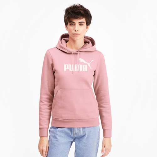 Women's Essentials Fleece Hoodie, Pink, swatch