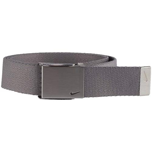 Men's Swoosh Web Golf Belt, Charcoal,Smoke,Steel, swatch