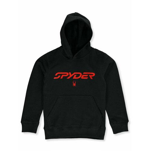 Boys' Logo Basic Fleece Pullover Hoodie, Black, swatch