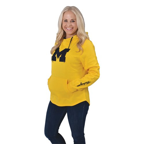 Women's Michigan Tackle Twill Hoodie, Alternate, swatch