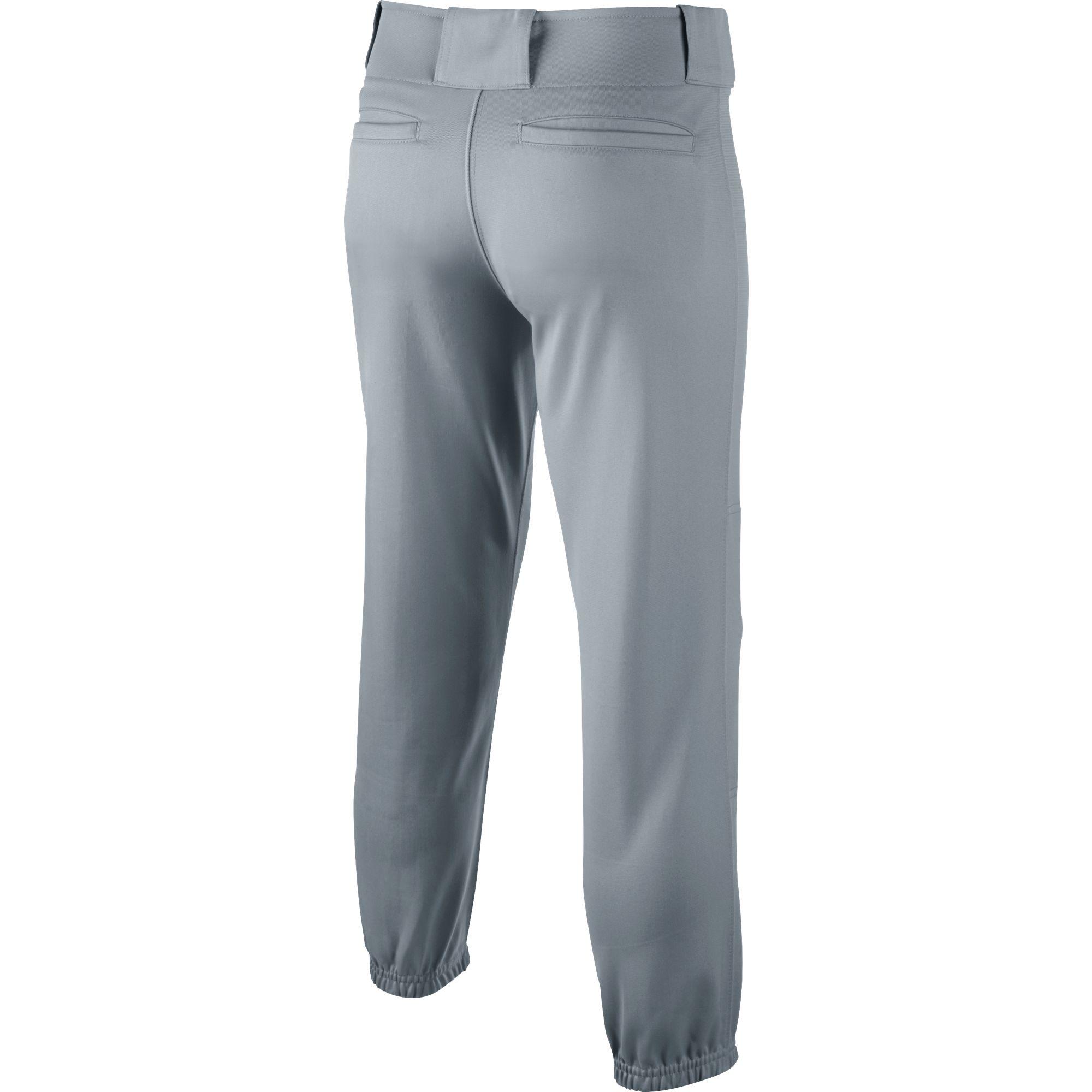Youth Core Closed Hem Baseball Pants, Gray, swatch
