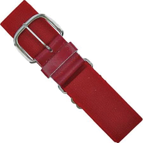 """1.5"""" Leather Baseball Belt, Red, swatch"""