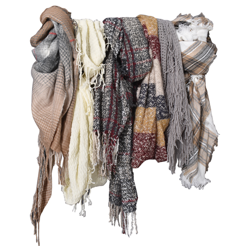 Women's Plaid Square Scarf, Assorted Color Pack, swatch