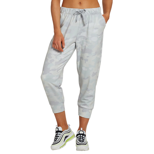 Women's Dri-FIT Rebel Fleece 7/8 Training Pants, Heather Gray, swatch