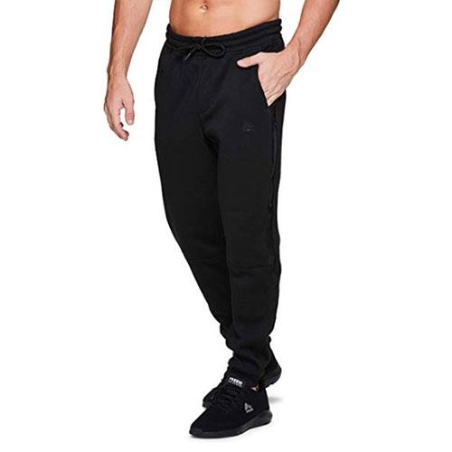 Men's CVC Fleece Tapered Jogger Pants, Black, swatch