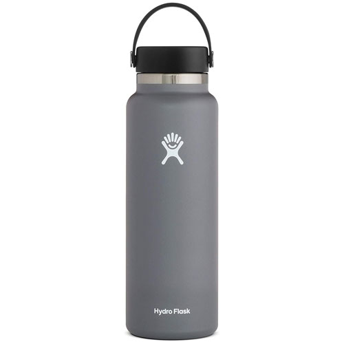 40oz Wide Mouth Stainless Steel Bottle, Stone, swatch