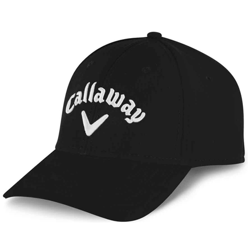 Women's Uptown Adjustable Golf Hat, Black/White, swatch