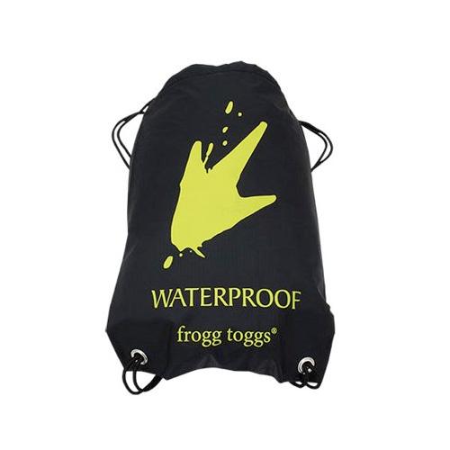 Waterproof Drawstring Backpack, Black, swatch