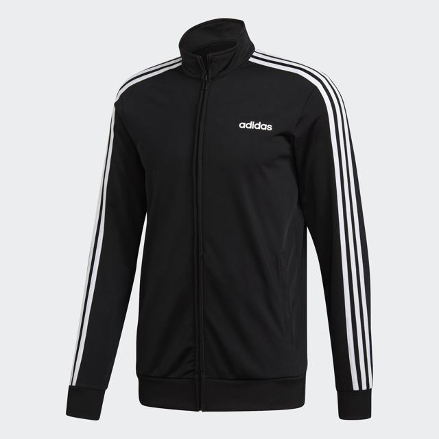 Men's Essential 3 Strip Tricot Jacket, Black/White, swatch