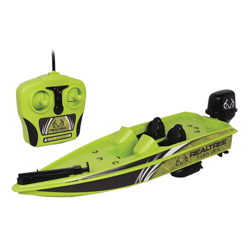RC Bass Boat Realtree, Green, swatch