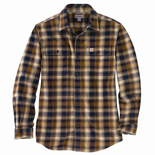 Men's Big & Tall Hubbard Flannel Long Sleeve Shirt, Navy, swatch