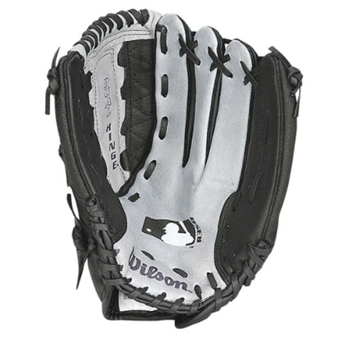 "Youth 12"" A350 MLB Baseball Glove, Gray/Black, swatch"