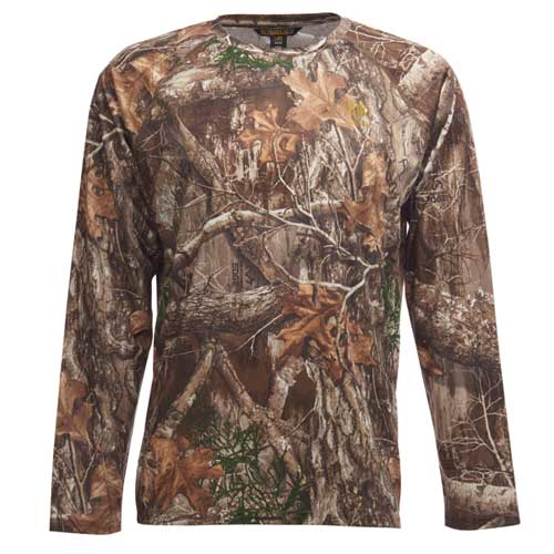 Men's Deer Stalker Realtree Edge Camouflage Crew Neck Shirt, , large