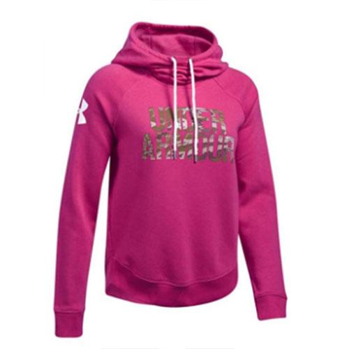 Women's Favorite Fleece Camo Logo Hoodie, Pink, swatch
