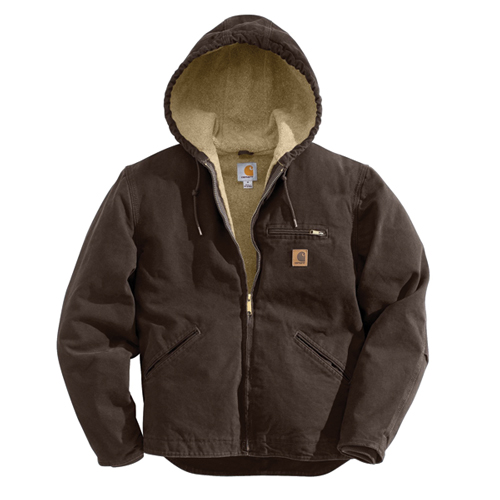 Men's Sandstone Sherpa-Lined Sierra Jacket, Dark Brown,Dark Natural, swatch