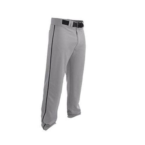 Youth Rival 2 Piped Baseball Pants, Gray/Black, swatch