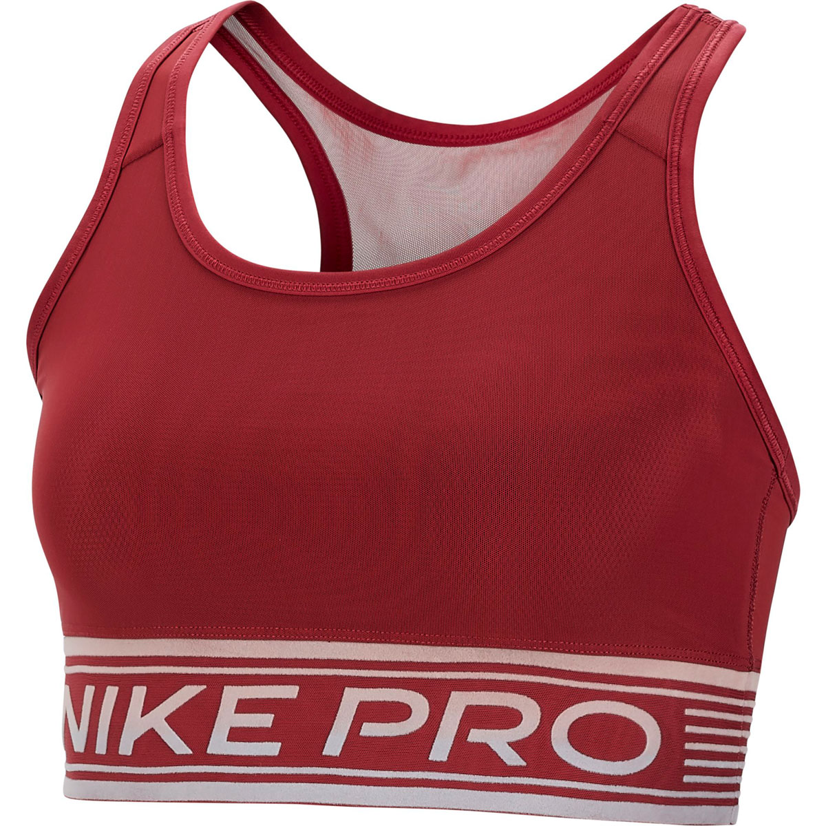 Women's Pro Pad Mesh Swoosh Sports Bra, Dk Red,Wine,Ruby,Burgandy, swatch