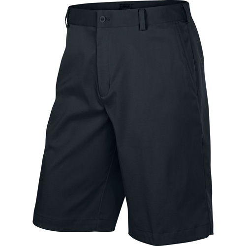 Men's Flat Front Tech Shorts, Black, swatch