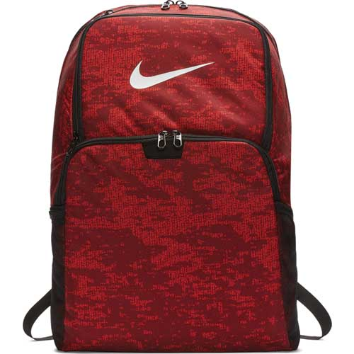Brasilia XL Backpack, Red Patterned, swatch