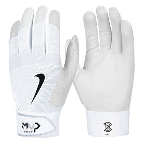 Men's MVP Edge Batting Gloves, White, swatch